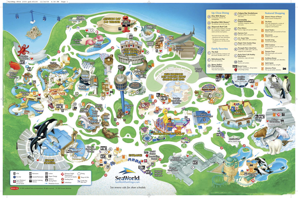 seaworld san diego map 2015 Sea World Maps Seaworld Military Discounts
